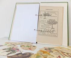 Mixed Paper Garden Journal./ Nature Notebook