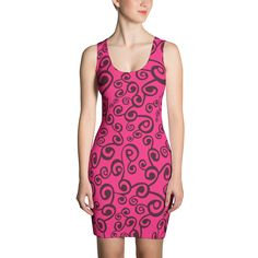 Pink Tourmaline - Fitted Dress - DogzPrinted