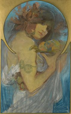 Alphonse Mucha - Study for a poster - Fruit