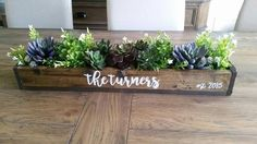 Rustic Succulent Centerpiece – Stacy Turner Creations