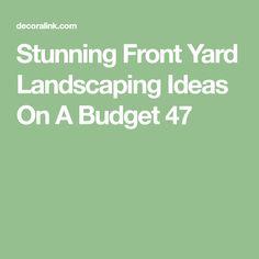 Stunning Front Yard Landscaping Ideas On A Budget 47 - Decoralink Front Yard Landscaping, Landscaping Ideas, Front Yard Design, Low Maintenance Landscaping, Backyard Projects, Backyard Ideas, Outdoor Ideas, Outdoor Plants, Dream Garden