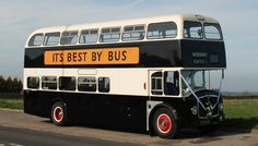"""Photograph of 3747 RH with the illuminated """"It's Best By Bus"""" slogan on the offside for Andrew comment above. Bus Coach, Coaches, Buses, Transportation, The Past, Photograph, Vintage, Catchphrase, Photography"""
