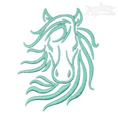 Horse Face Embroidery Design