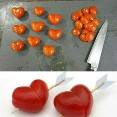 Tomato, heart and love