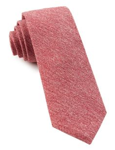 BUFF SOLID TIES - RED | Ties, Bow Ties, and Pocket Squares | The Tie Bar