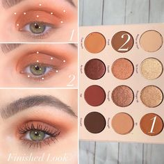 Apply all over lid and blend in transition area Outer Half lid and lower lash line Soft Eye Makeup, Eye Makeup Steps, Eye Makeup Art, Simple Eye Makeup, Makeup Inspo, Eyeshadow Makeup, Makeup Tips, Eyeshadow Palette, Colourpop Eyeshadow