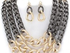 Gold jewelry set bozzdiva.com