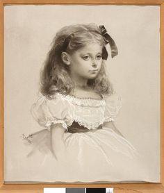 """Артур Гроттгер """"Портрет Елены Мицкевич, внучки поэта Адама Мицкевича"""" из (Варшавского Музея)/ Grottger, Artur (1837-1867) Portrait of Helena Mickiewicz, Warszawa, Muzeum Narodowe"""
