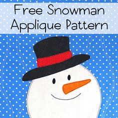 Make a dapper little snowman with this easy appliqué pattern. And it's free!