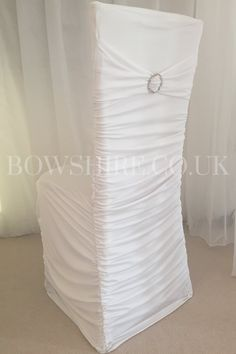 Hire Price: £2.50 each We now have available high end quality stretch ruffle chair covers to fit the vast majority of banqueting chairs.Ourstretch chair covers are available in White,Black, Purple, Pink and Silver