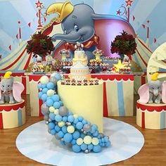 Dumbo Birthday Party, 13th Birthday, Boy Birthday Parties, Baby Party, Baby Birthday, Birthday Party Decorations, Dumbo Baby Shower, Fiesta Baby Shower, Elephant Baby Boy
