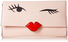 kate spade new york Love Birds Wink Clutch, Blush, One Size