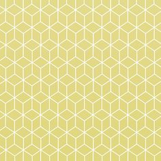 Kube wallpaper anise yellow color from the collection Au fil des Couleurs panora .