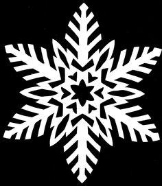 Paper Snowflake CUTTING PATTERN 19 by *whitneylunt on deviantART