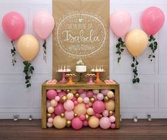 47 Ideas For Birthday Decorations Table Adult Baby Shower Balloon Decorations, Birthday Party Decorations, Baby Shower Decorations, Party Themes, Birthday Parties, Party Ideas, Baby Party, Baby Birthday, Cake Table Birthday