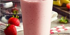 This Strawberry Smoothie is high in protein and a delicious  addition to a kidney-friendly diet. Download Today's Kidney Diet: Juices, Smoothies & Drinks for free!