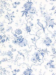 Buy Sanderson Wallpaper, Pillemont DPEMPI101, China Blue Online at johnlewis.com