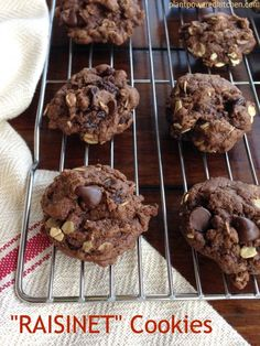 """Raisinet"" Cookies (vegan and oil-free option) by Dreena Burton, Plant-Powered Kitchen"