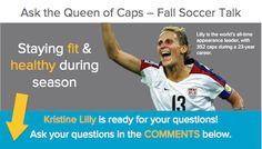 Kristine Lilly is ready for your questions! Remember, we'll post 1 answer/day next week Mon-Fri, so check our wall for her responses! Please comment on our Facebook post here: http://www.facebook.com/photo.php?fbid=457901464250779=a.255027761204818.64657.165792546795007=1