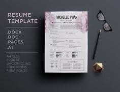 CV template + cover letter by Chic templates on Creative Market