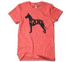Great Dane t shirt - Poosh designs! Austin!