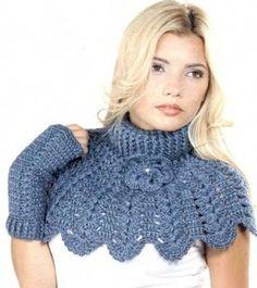 Delicadezas en crochet Gabriela: Chal y cuellos