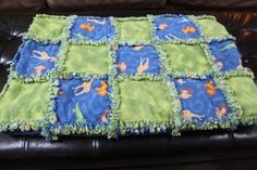 Flannel Rag Quilt Tutorial