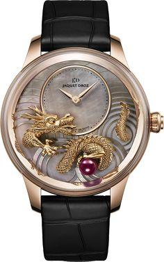 Jaquet Droz Petite Heure Minute Relief Dragon Watch @DestinationMars