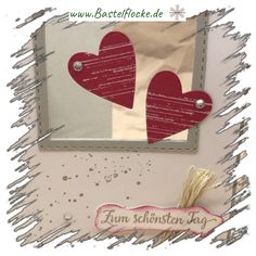 www.bastelflocke.de - Zum schönsten Tag...in Rot. Mehr dazu gibt es auf meinem Blog unter www.bastelflocke.de #hochzeit #hochzeitstag #liebe #herzen #stempel #Karte #Jahrestag #geburtstag #farngrün #saharasand #flüsterweiß #stampinup #gorgeousgrunge #strasssteine #zumschönstentag #fürimmer #dimensionals #stitched #stanze #gummiapan #heartlayers #memorybox