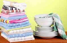 Как отстирать кухонные полотенца и удалить с них даже застарелые пятна. Полотенца будут, как новые!