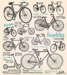 32 ideas old bike illustration poster Vintage Bicycle Art, Velo Vintage, Retro Bicycle, Old Bicycle, Old Bikes, Bicycle Wheel, Bicycle Basket, Cruiser Bicycle, Motorized Bicycle