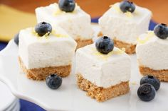Lemon Refrigerator Bars: Sometimes you want something sweet that doesn't weigh you down and these Lemon Refrigerator Bites are just the trick! They're light and refreshing and perfect for the warm weather. Lemon Dessert Recipes, Köstliche Desserts, Lemon Recipes, Summer Desserts, Baking Recipes, Cookie Recipes, Delicious Desserts, Yummy Food, Picnic Recipes