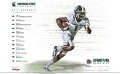A Spartans Guide to Tailgate Trash Talk, 2014 Msu Football, Michigan State Football, College Football Teams, Michigan State University, Football Season, Football Game Schedule, Detroit State, Jacksonville State, Cheer Quotes