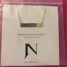 Happy Tag Necklace - Mercari: Anyone can buy & sell