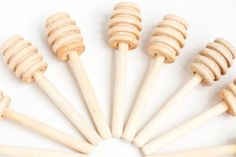 12 4 inch wood mini honey dippers Honey Dipper Honey Honey | Etsy