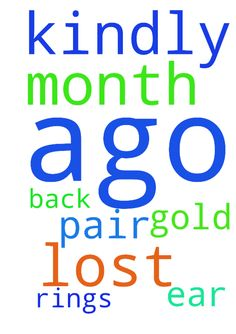 kindly pray for the lost month ago gold a pair of ear - kindly pray for the lost month ago gold a pair of ear rings to get back  Posted at: https://prayerrequest.com/t/Qqq #pray #prayer #request #prayerrequest
