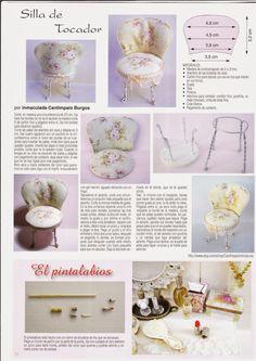 Mi ultima publicación en la revista Miniaturas, mas abajo os muestro las fotos de los muebles con mas detalles, espero que os sirvan para v...