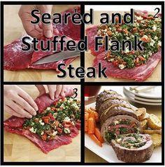 phoenix schatten - aangebraden en Gevulde Flank Steak