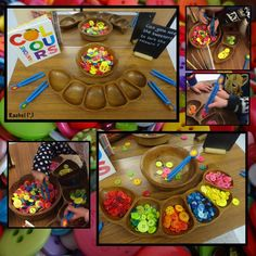 "Fine motor work with tweezers and buttons - from Rachel ("",)"