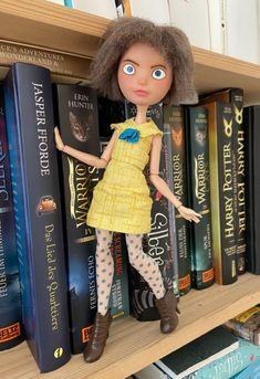 Fran Bow Doll repaint Doll Repaint, Disney Characters, Fictional Characters, Wonderland, Horror, Bows, Adventure, Disney Princess, Games