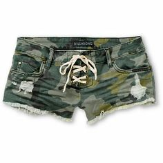 Keep things setalth in standout style with the Billabong Lite Hearted Camo Print cut off shorts for girls.