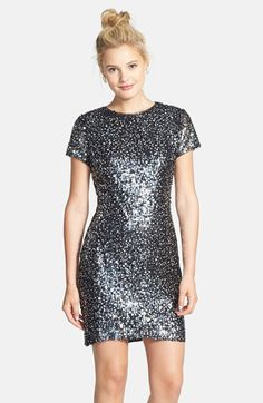 Hailey Logan Sequin Body-Con T-Shirt Dress (Juniors) available at #Nordstrom