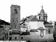 Hermosa imagen y a la vez insólita de la iglesia de Santa Catalina con una inexistente plaza de Ponce de León