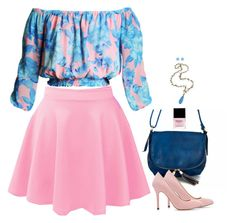 """Pink & Blue"" by miki006 ❤ liked on Polyvore"