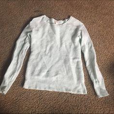 Mint Green Waffle Knit J Crew Sweater Good condition J. Crew Sweaters Crew & Scoop Necks