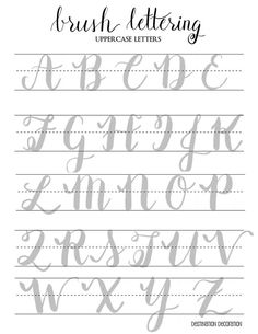 Shared with Dropbox Brush Lettering Worksheet, Lettering Guide, Hand Lettering Practice, Hand Lettering Tutorial, Hand Lettering Alphabet, Creative Lettering, Lettering Styles, Bullet Journal Writing, Bullet Journal Ideas Pages