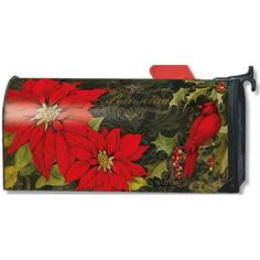 FREE Shipping! Personalization Available Adaptable for Plastic Mailboxes Bright Red Spring Tulips Magnetic Mailbox Cover