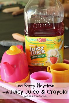 Tea Party Playtime with Juicy Juice & Crayola - Nessa Makes #UltimatePlaydate #shop #cbias