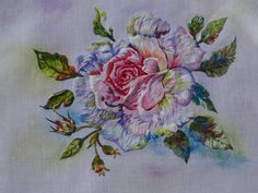 Peinture à l'aiguille réalisée par Christiane