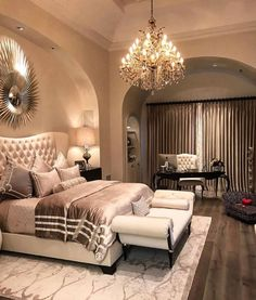 plush design bedroom divider. Room goals fit for a modern queen  I chose this bedroom because love the use of different